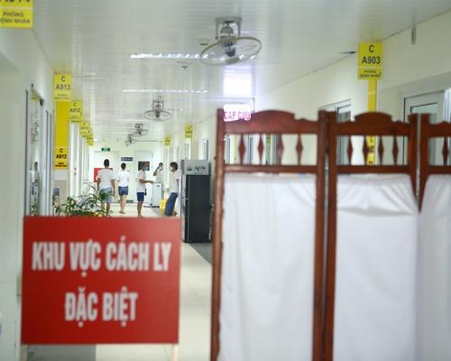Khu cách ly các trường hợp nghi nhiễm tại bệnh viện Thanh Nhàn (Hà Nội).