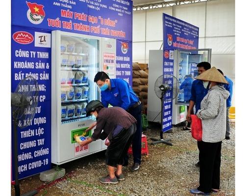 Chương trình phát gạo cho người nghèo ở tỉnh Thái Nguyên